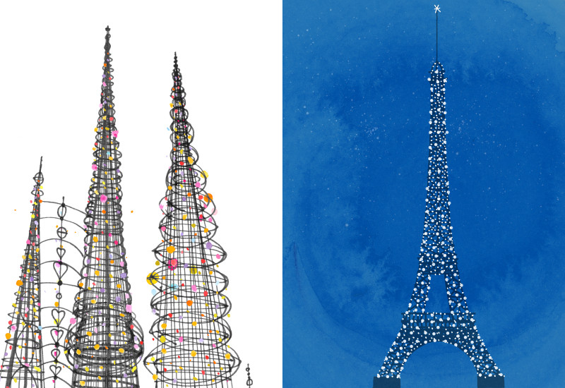Towers - Watts Towers vis-a-vis Eiffel Tower