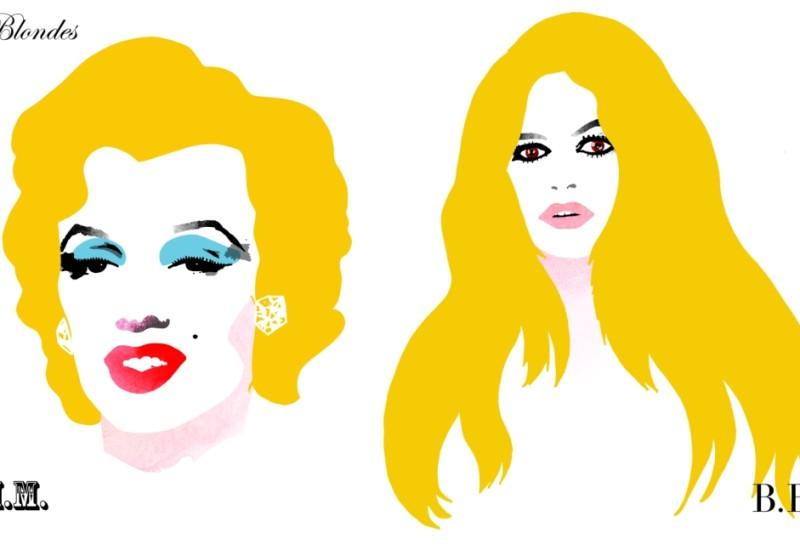 Blondes - Marylin Monroe vis-a-vis Bridgette Bardot