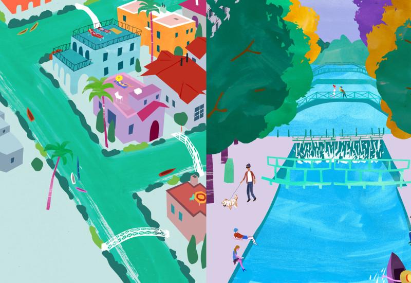 Canals - Venice Canals vis-a-vis Canal St. Martin