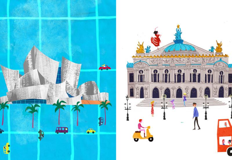Music - Walt Disney Concert Hall vis-a-vis Opera National - Garnier
