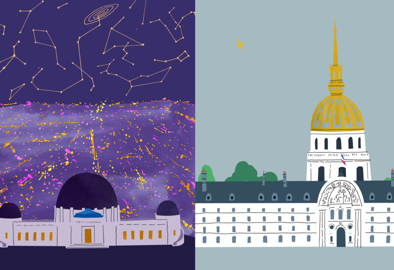Domes - Observatory vis-a-vis Invalide