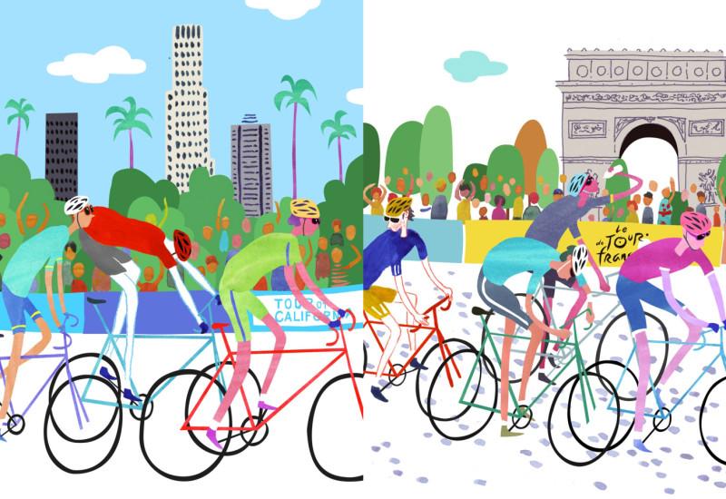 Bicycle Races - Tour of California vis-a-vis Le Tour de France