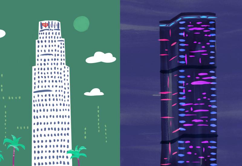 Tallest Buildings - U.S. Bank Tower vis-a-vis Montparnasse