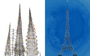 Towers - Watts Towers vs. Eiffel Tower