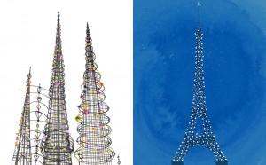 Towers - Watts Towers vs. Eiffel Tower