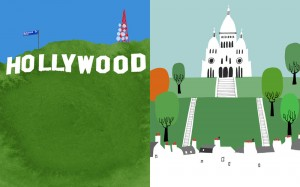 Religion - Hollywood Sign vs. Sacred Coeur