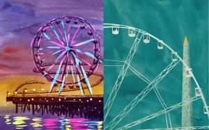 Ferris Wheels - Santa Monica Ferris Wheel vs. La grande Roue de Concorde