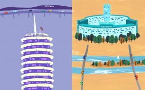 Round Buildings - Capitol Records vs. Radio France